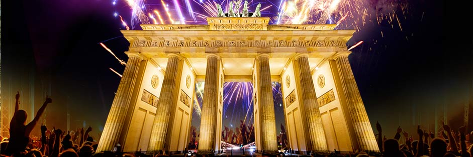 Silvester am Brandenburger Tor in Berlin 2016